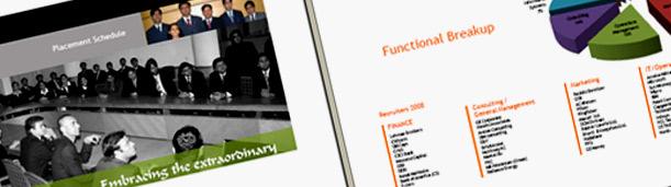 B school placement brochure design mba placement brochure for Placement brochure design