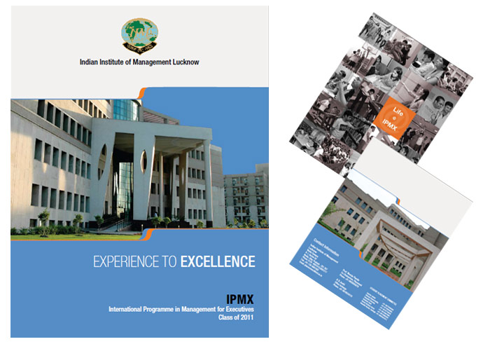 Placement Brochure IIM Lucknow 2011, Placement Brochure Design IIM Lucknow 2011 IPMX Batch