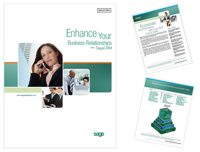 Software Brochure Brochure Design Business Brochure Design Sage