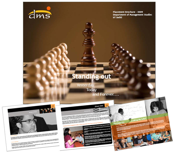 Placement Brochure Designing and printing for DMS, IIT Delhi by placement brochure design company in Delhi
