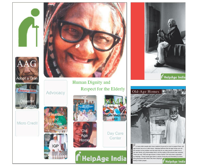 brochure designing and printing for Helpage