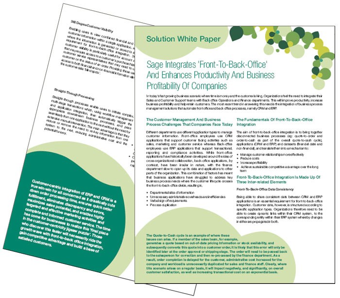White Paper designing and printing services for Sage India
