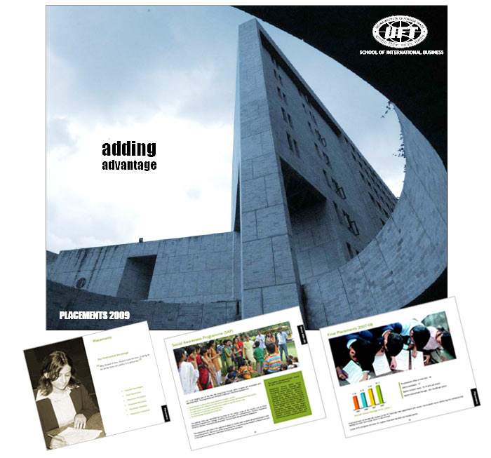 b school brochure design